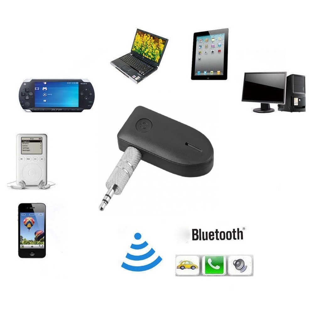 Bluetooth 4.1 Car Aux 3.5mm Audio Stereo Music Receiver + Mic