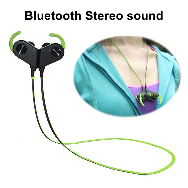 Magnetic Switch Sport Bluetooth Wireless In-Ear Earbuds with Mic